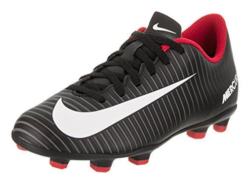 Nike Kids Jr Mercurial Vortex III FG Black/White Dark Grey Soccer Cleat 4.5 Kids US