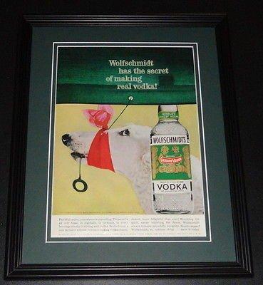 Wolfschmidt Vodka (1959 Wolfschmidt Vodka 11x14 Framed ORIGINAL Vintage Advertisement Poster B)