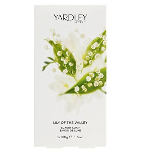 (Lily of the Valley by Yardley of London for Women Luxury Soap 3.5 Ounce - 3 Bars per Box)