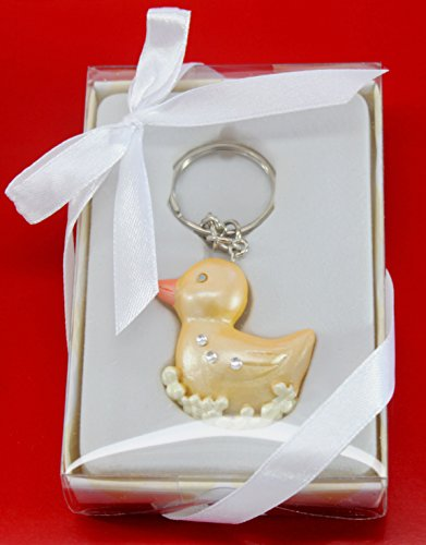 An Adorable Yellow Duck Key Chains Keepsake Baby Shower Birthday Party Gifts US Seller