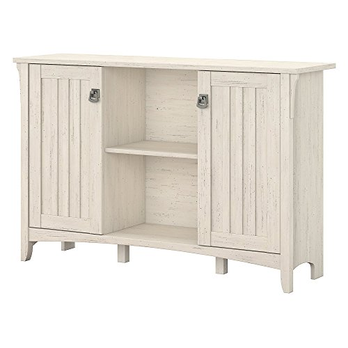 Bush Furniture Salinas Storage Cabinet with Doors in Antique White Bush Furniture 2 Door Cabinet