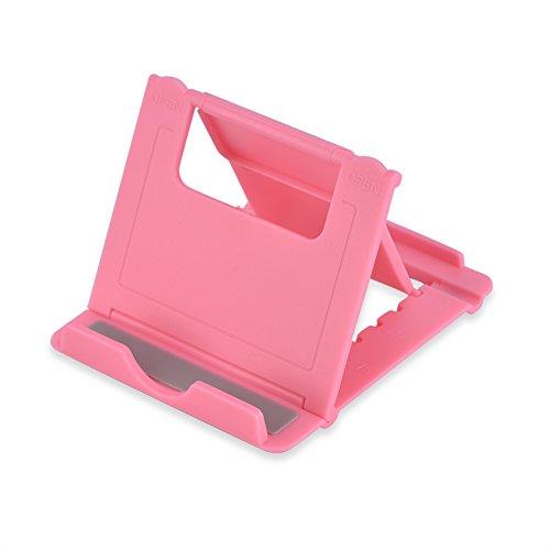 Adjustable Foldable Phone Tablet Desk Stand Holder Bracket for iPad Samsung iPhone(Pink)