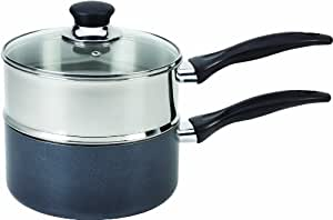T-fal B13996 Specialty Stainless Steel Double Boiler with Phenolic Handle Cookware, 3-Quart, Silver