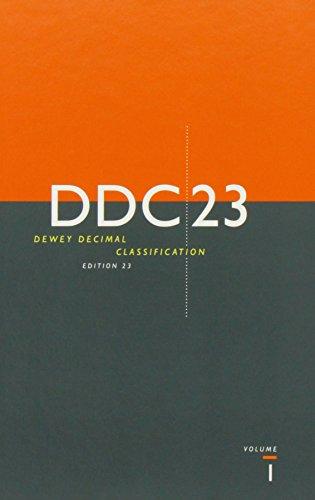 Dewey Decimal Classification and Relative Index (Dewey Decimal Classification & Relative Index)