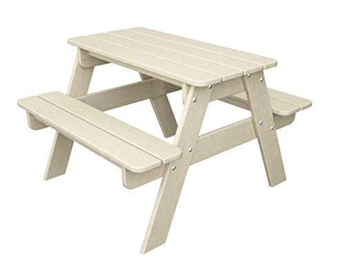 Recycled Earth-Friendly Outdoor Patio Kid's Picnic Table - Khaki