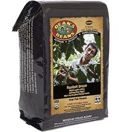 Dean's Beans Inherent Coffee Company, Hazelnut Dream, Ground, 16 Ounce Bag (Organic, Fair Trade and Kosher Certified)