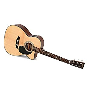 Western-Gitarre Sigma 000MC-1STE mit Fishman Isys Tonabnehmer und Stimmgerät