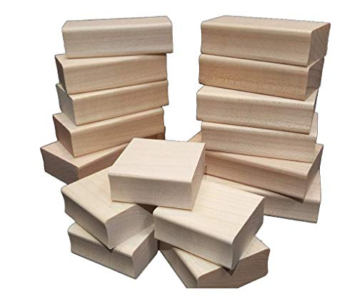 Blank Hard Wood Rubber Stamp mounts Scrapbooking. (Multiple Sizes Available) (1.75X0.75 (8 Pack))