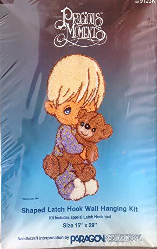 Precious Moments Shaped Latch Hook Wall Hanging Kit #9123K - God Loves Me [Boy]