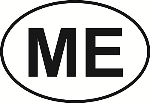 Amazon com maine euro oval bumper sticker automotive