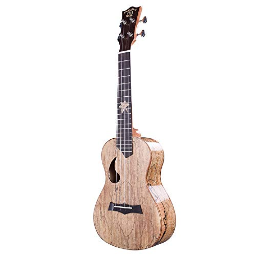 Spalted Maple Natural - Snail Ukulele 23 inch Student Beginner Spalted Maple Ukelele with Starter kit (Gig Bag Digital Tuner&Spare Carbon String and Pick)