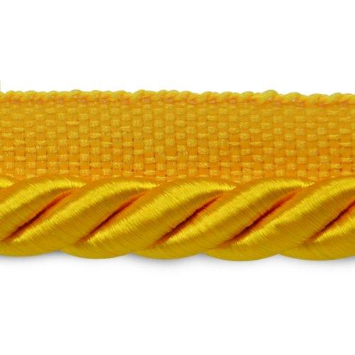 (Expo International 20-Yard Hilda Twisted Lip Cord Trim Embellishment, 3/8-Inch, Yellow Gold)