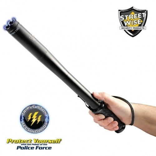 Streetwise Security Products Police Force 9,000,000-volt Tactical Stun Baton Flashlight, Model: SWPFTB9R, Sport & (Streetwise Stun Baton)