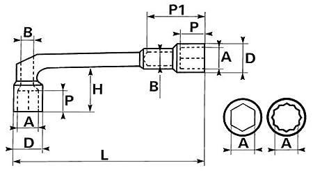 1 St/ück Chrom poliert 19 mm Rodac SAM-93-SD19 Durchbohrter Pfeifenkopfschl/üssel 6//12-kant 19/mm Inhalt