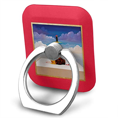 EdithL Kanye West My Beautiful Dark Twisted Fantasy Cellstand Cell Phone Finger Ring Stand, Car Mount 360 Degree Rotation Universal Phone Ring Holder Kickstand for iPhone/iPad/Samsung