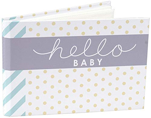 Malden International Designs Hello Baby Photo Album, 40-4×6, White (Limited Edition)