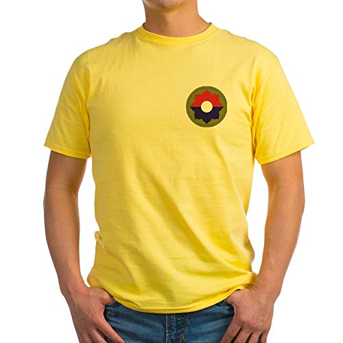 CafePress 9Th Infantry Division Light T Shirt 100% Cotton T-Shirt Yellow