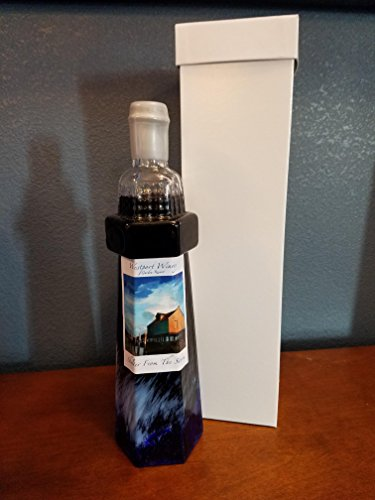 Westport Winery Shelter From The Storm Hand-blown Lighthouse Shaped Bottle Wine Gift Set, 1 x 750 mL