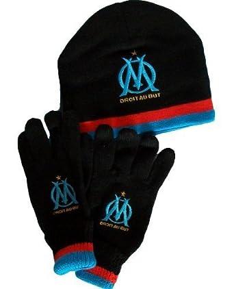 c6d913b1a331 Gants + Bonnet - Collection officielle - OLYMPIQUE DE MARSEILLE - OM -  Football club Ligue