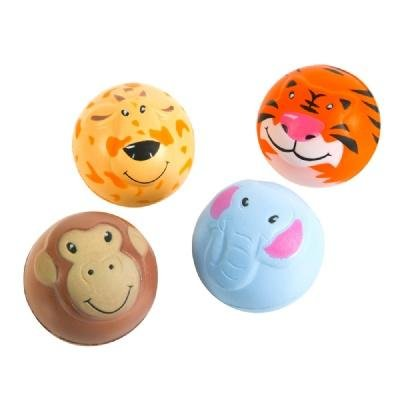 Zoo Animal Squeeze Stress Ball - 12 Pack (Ball Elephant Stress)