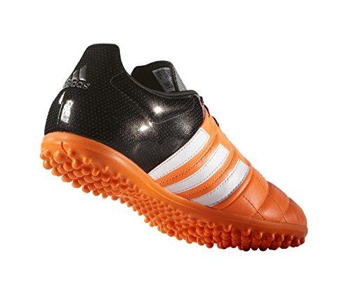adidas ACE 15.3 TF Leather - Botas para hombre Naranja / Blanco / Negro