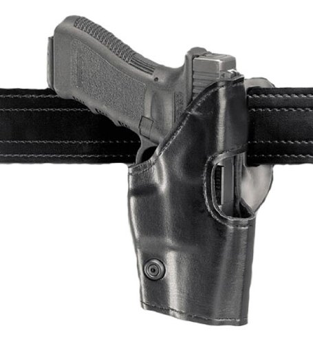 Safariland Model 295 with Original Belt Loop Level II Retention Holster, Mid-Ride, Black,High Gloss, Right Hand Glock 17, 19, 22, 23, 31
