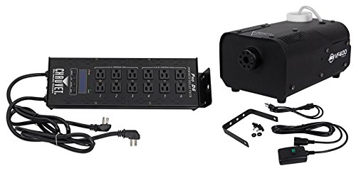 230v Mini (Package: Chauvet Pro-D6 6 channel 20 Amp DMX-512 Dimmer/Switch Pack designed to work with 115V and 230V simultaniously + American DJ VF400 Portable/Mini 400 Watt Fog Machine with Wired Remote Control)