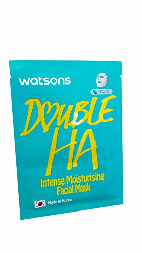 [4 Mask Sheets of Watsons Intense Moisturising Facial Mask with Double HA. Which help replenish moisture while soothing fine lines. (21 ml essence/] (Doctor Watson Costume)