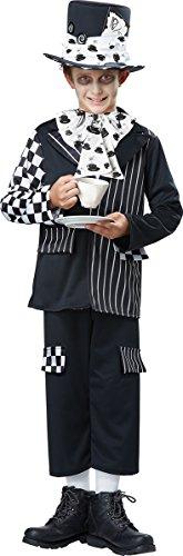 California Costumes Mad Hatter Child Costume, Black/White, X-Large ()