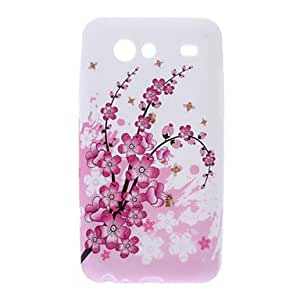 Plum Blossom Pattern TPU Soft Back Cover Case for Samsung Galaxy S Advance I9070