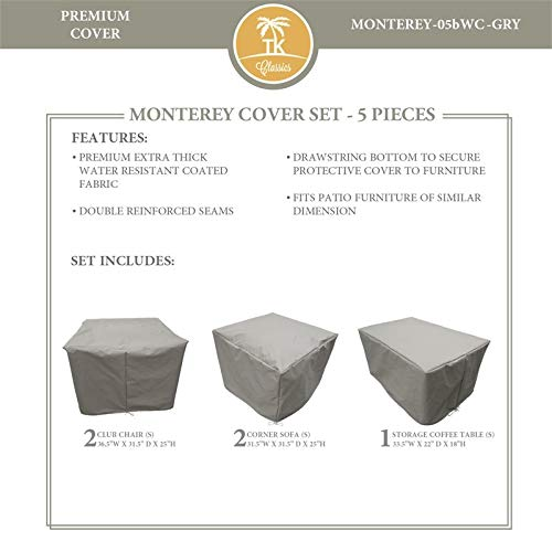 TK Classics MONTEREY-05b Protective Cover Set in Gray