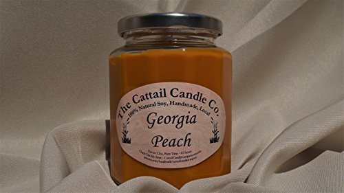 Cattail Candle (Georgia Peach - 100% Soy Candle, 12 fl oz)