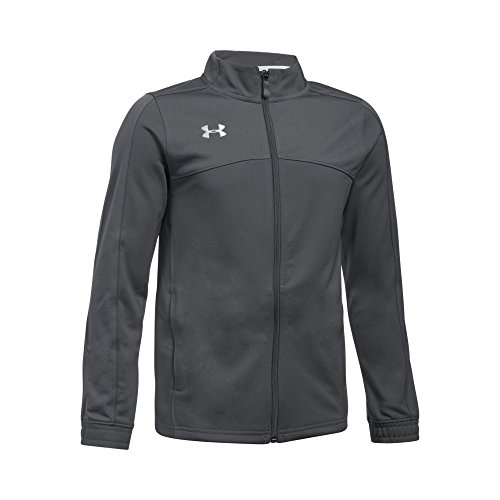 Under Armour Boys' Futbolista Soccer Track Jacket, Graphite /White, Youth X-Large ()