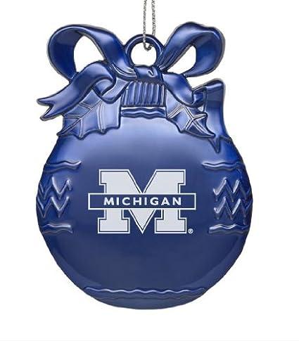 University of Michigan - Pewter Christmas Tree Ornament - Blue - Amazon.com: University Of Michigan - Pewter Christmas Tree Ornament