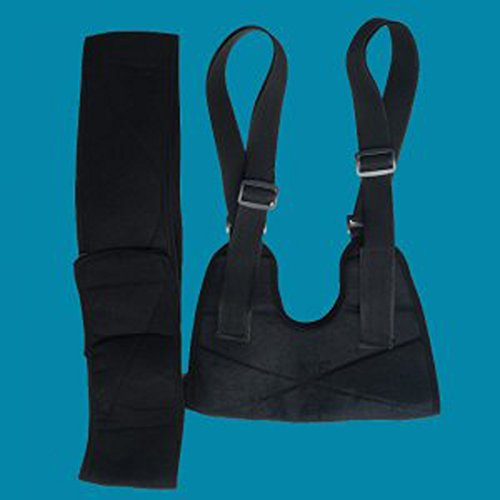 Finelon Brazo transpirable Sling Hombro Inmovilizador Brace-cómodo  acolchado apoyo a36e1974ea80