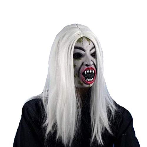Nrpfell Halloween Long Wig Hair Grudge Sadako Ghost Wig for Halloween Masquerade Party Cosplay Halloween Costumes -