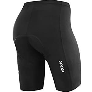 (New Gear for Spring) NOOYME Women Cycling Shorts for Bicycle with 3D Padded Classics Designed Women Bike Shorts (Large, Classic Black)