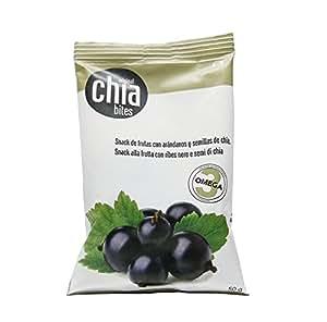 Original chia bites- Snack saludable, con frutas del bosque, sin azúcares añadidos con semillas de chia. Bolsas de 50 gr. Cajas de 20 uds. Sin conservantes ni colorantes. Snack 100% natural.