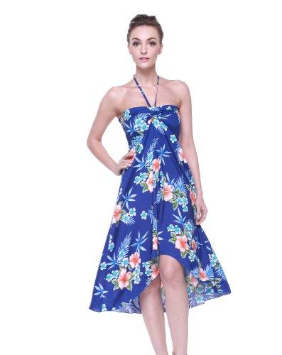 Hawaii Hibiscus Hangover Blue Butterfly Dress Hawaiian Women's rqrdXw7gx