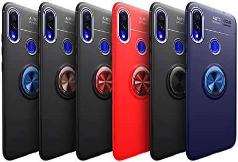 Ququcheng Funda Xiaomi Redmi Note 7,Carcasa Xiaomi Redmi Note 7 Silicona Cover+Pantalla de Vidrio Templado Absorción de Choque Resistente Caso Skin ...