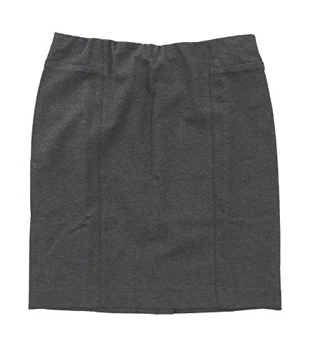 J Jill Women's - Seamed Ponte Knit Pull-On Pencil Skirt (X-Large, Charcoal Gray)