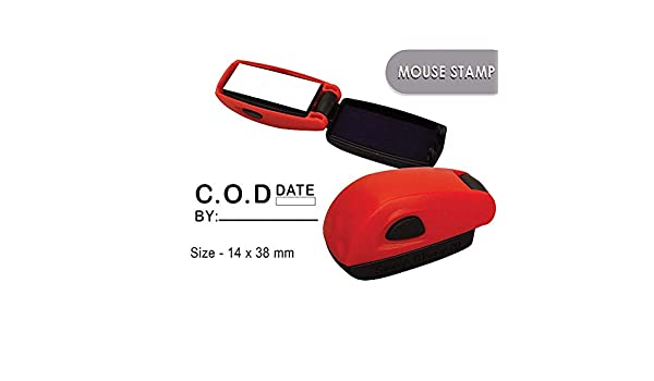 C.O.D Self Inking Rubber Stamp Custom Colop Office Stationary P20 Mini Stamper