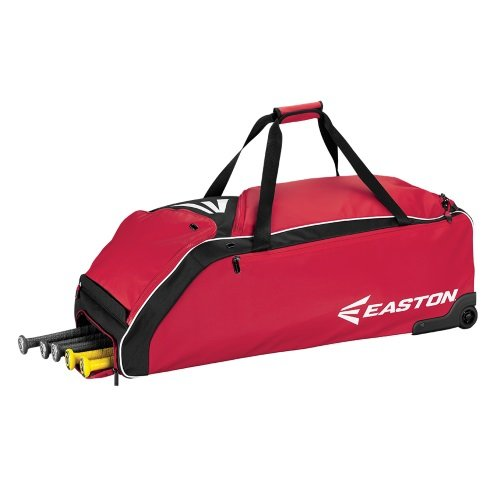 Easton Wheeled Bag Baseball Bag, Red