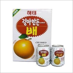 [Korea Food / Korea tea] wholesale pear juice, 1 case (238ml x 12 lines / cans) by Haetae