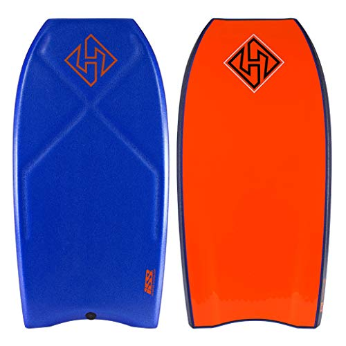 Hubboards Houston Quad Core ISS Bodyboard - Blue/Dark Blue/Orange - 41