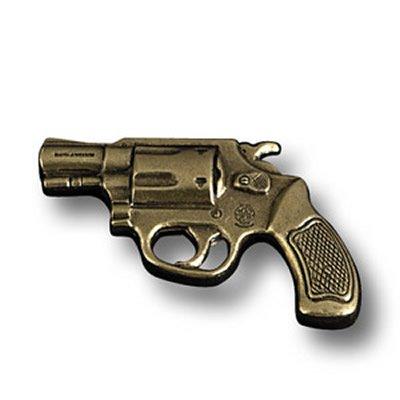 Smith & Wesson Pistol Tie Tac Pin J-Frame Revolver 38 Handgun