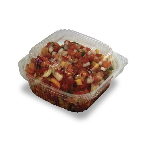 - Jaya 100% Compostable Clear PLA Hinged Clamshell, 6 X 6 -Inch, 240-Count Case