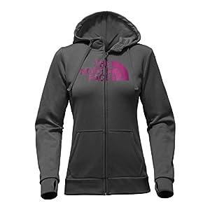 The North Face Women's Fave Half Dome Full Zip Hoodie 2.0 - TNF Dark Grey Heather/Wild Aster Purple - XL