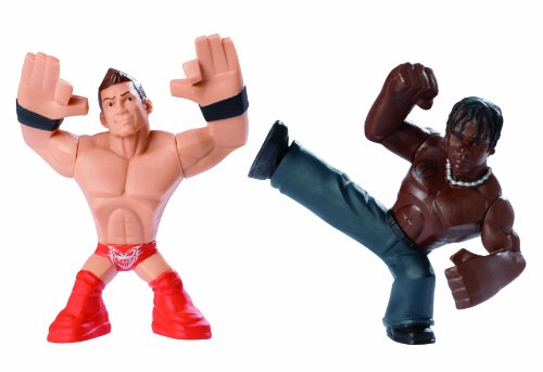 WWE Rumblers The Miz and R-Truth Figure, 2-Pack (Truth R Figure)