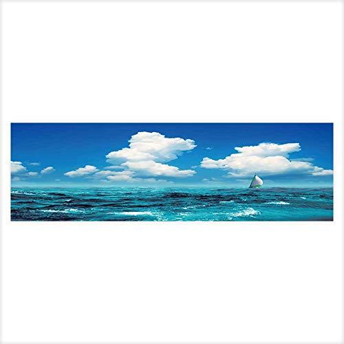 Auraisehome Decorative Aquarium Marine Landscape Aquarium Sticker Wallpaper Decoration 29.5